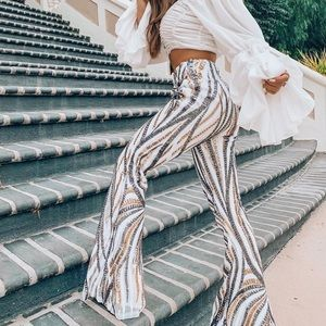 Sequence flare pants